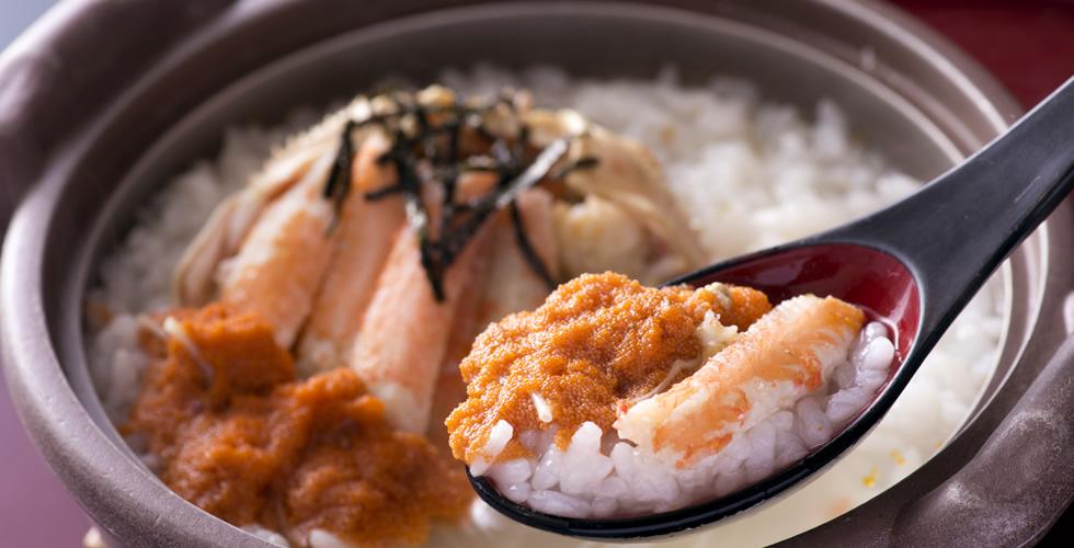 越前ガニ料理「セイコガニ かに雑炊」