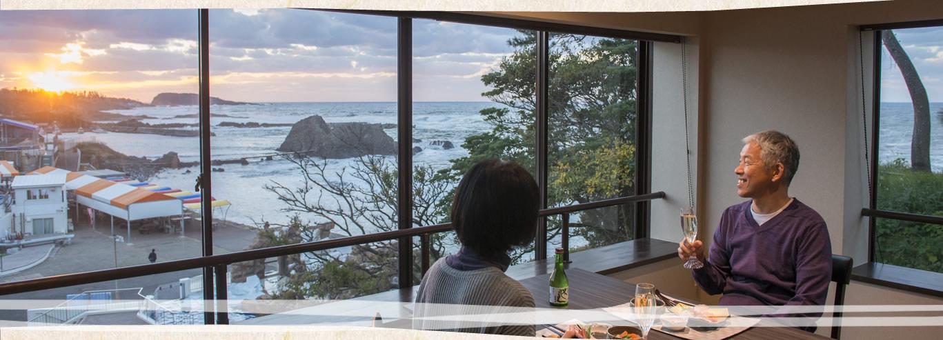 越前松島と食事処