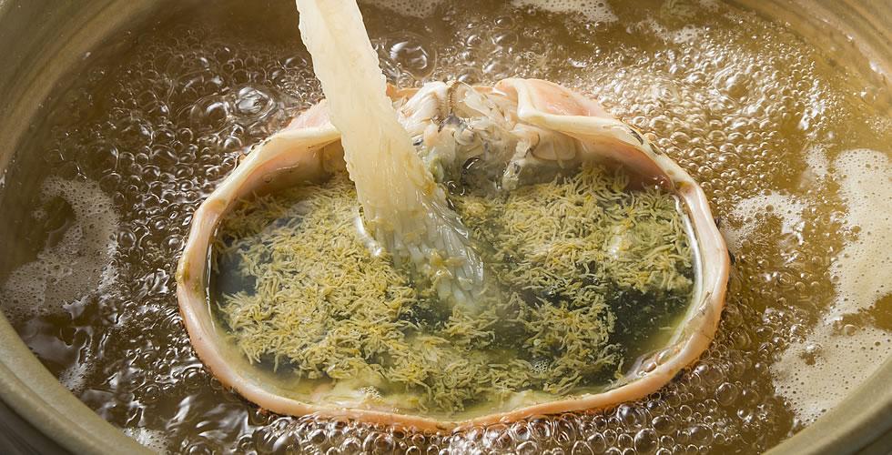 越前蟹の蟹味噌