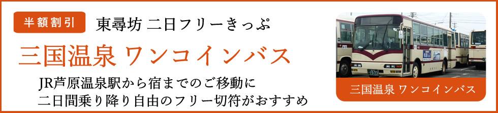 三国温泉ワンコインバス「東尋坊二日フリーきっぷ」半額割引