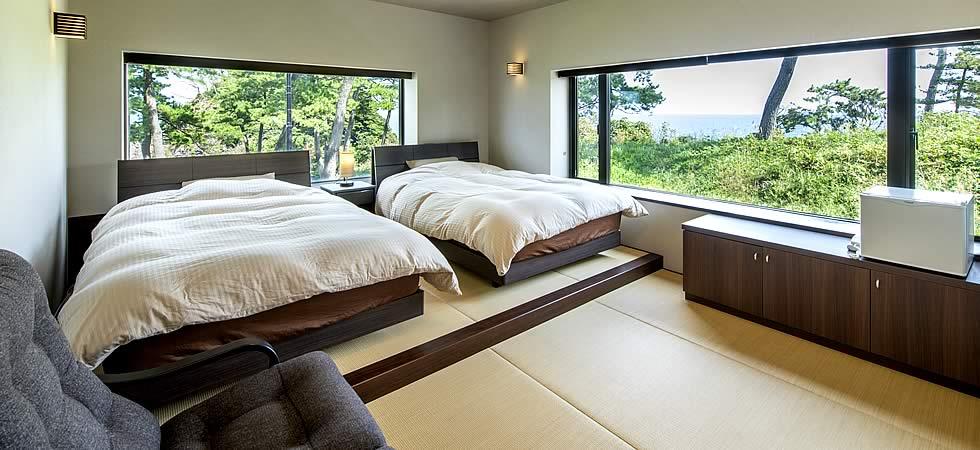 ベッド室からの眺め
