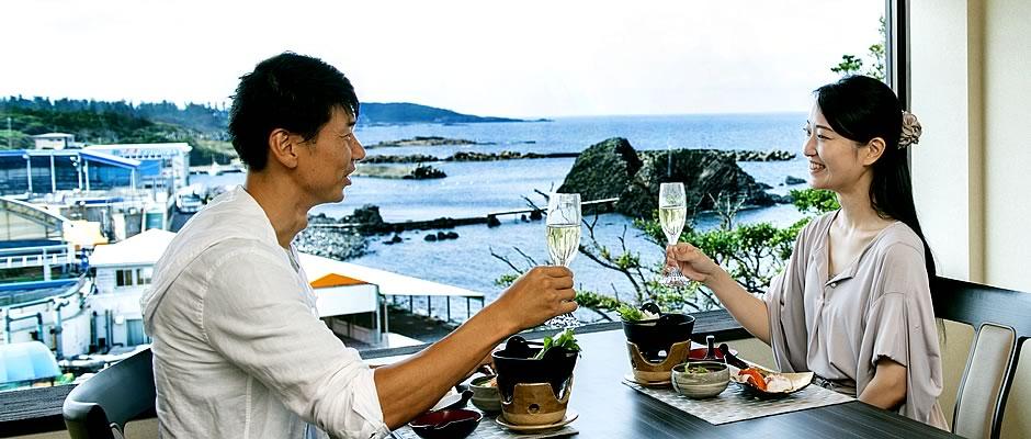 お食事処「越前がに楽膳」でのご夕食