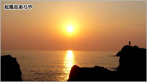 越前松島の夕陽