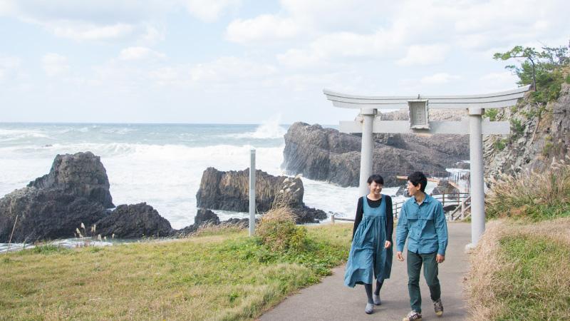 お宿あらやのある越前松島