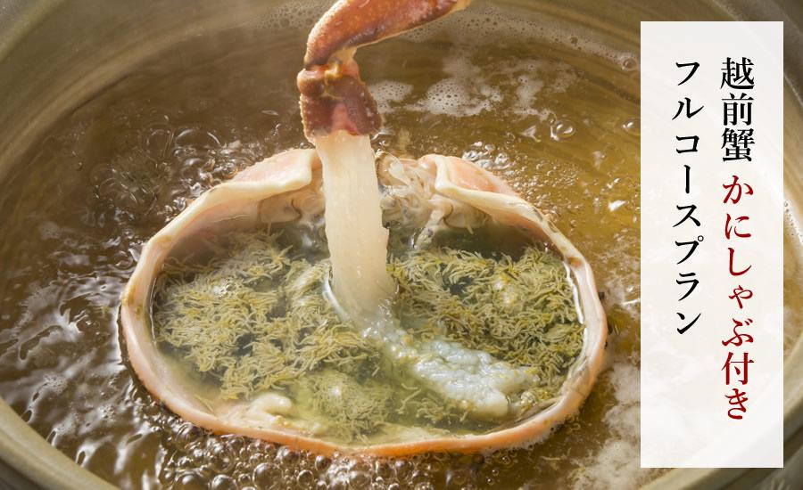 【大サイズ】越前ガニ 蟹しゃぶ付きフルコースプラン