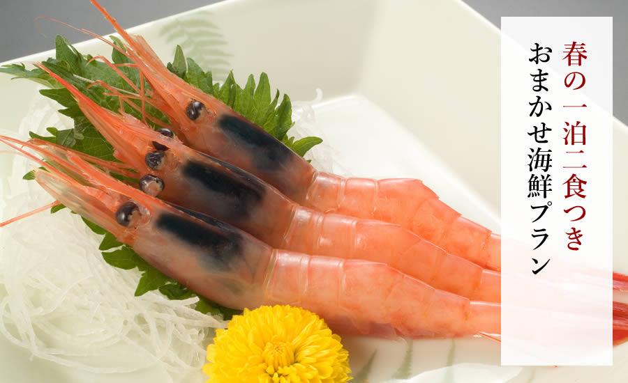 【一泊二食】春のおまかせ海鮮プラン