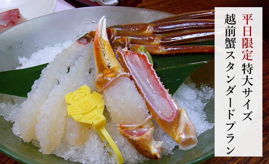 【平日限定】特大サイズ越前蟹 スタンダードプラン